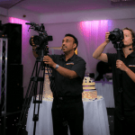 Two cameras set-up at a video productions wedding